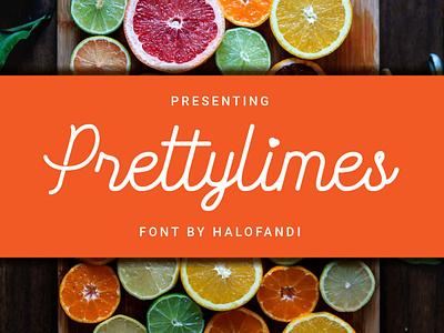 Prettylimes Font calligraphic typography handwritten calligraphy abc script lettering type letter alphabet font