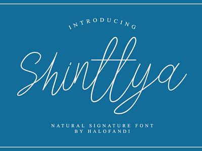 Shinttya Signature Font typography abc handwritten calligraphy script lettering letter type alphabet font