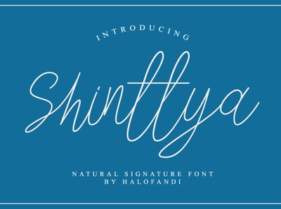 Shinttya Signature Font typography abc handwritten calligraphy script lettering letter type alphabet font