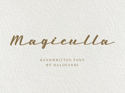 Magiculla Script Font typography handwritten calligraphy abc script lettering letter type alphabet font