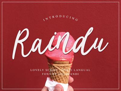 Raindu Script Font calligraphic typography handwritten calligraphy abc script lettering letter type alphabet font