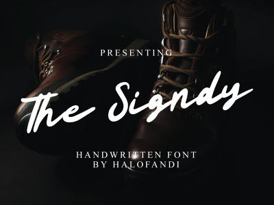 The Signdy Bold Handwritten Font letter calligraphic retro vintage natural bold typography handwritten abc script lettering font