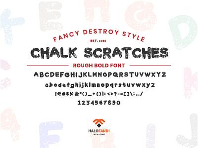 Chalk Scratches Rough Bold, Fancy Destroy Font Style rough font collection font design bold abc fancy chalk scratchboard scratched alphabet font vector retro design