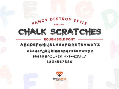 Chalk Scratches Rough Bold, Fancy Destroy Font Style