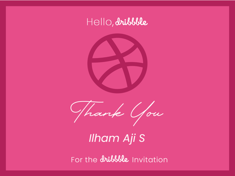 Invitation Dribbble