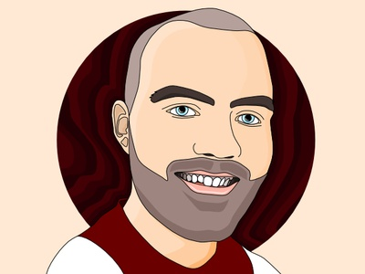 Self Portrait affinity designer illustration vector art graphic design self portrait