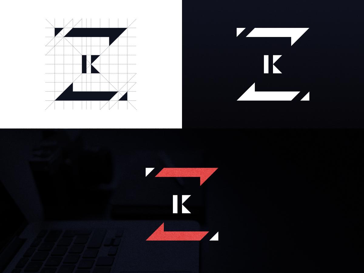 Personal Logo: ZK affinity designer logo design letter z lettermark design logo graphic design z logo letter logo personal branding personal brand personal logo initial logo