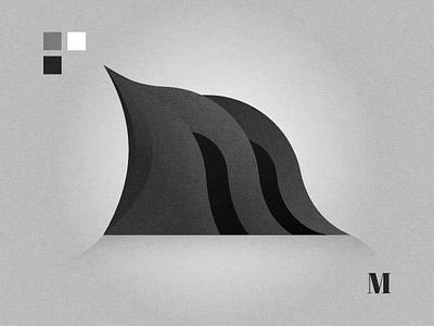 M lettermark logo graphic design affinity designer black  white abstact minimal m letterm mlogo