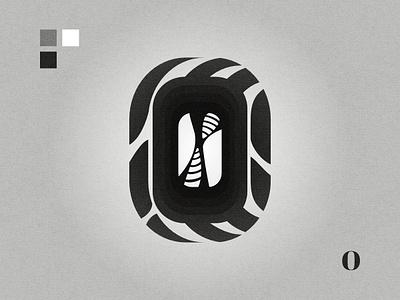 O black and white lettermark graphic design affinity designer logo letter o o logo o