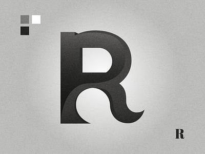 R letter logo black and white lettermark graphic design affinity designer logo design logo letter r r logo r