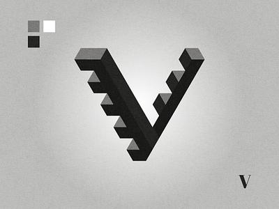 V lettermark black and white affinity designer graphic design logo design logo v letter v logo v