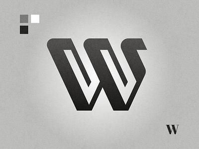W affinity designer graphic design lettermark black and white logo design logo w letter w logo w