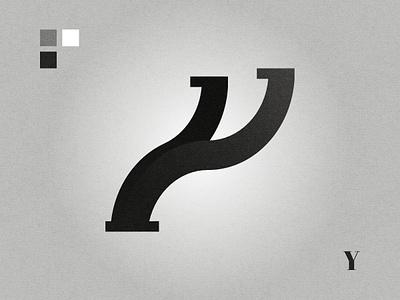 Y affinity designer graphic design black and white lettermark logo design logo letter y y logo y
