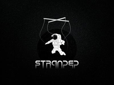 Stranded 2 outline astronaut puppet space vector design illustration black and white graphic design affinity designer logo