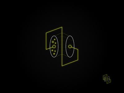 Neon Tech: Yellow yellow particles outline logo technology logo neon logo neon vector logo design logo graphic design affinity designer