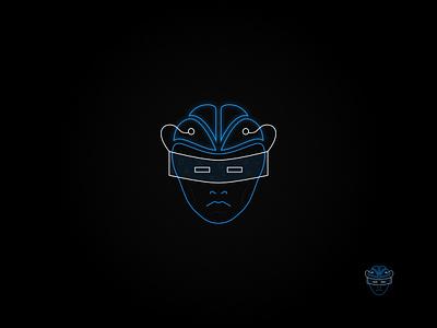 Neon Tech: Blue neurology augmented reality blue outline logo technology logo neon logo neon vector logo logo design graphic design affinity designer