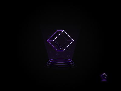 Neon Tech: Indigo indigo hologram outline logo technology logo neon logo neon vector logo logo design graphic design affinity designer