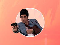 Scarface vector character illustration tonymontana scarface