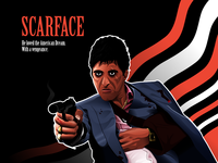 Scarface vector illustration character tonymontana scarface