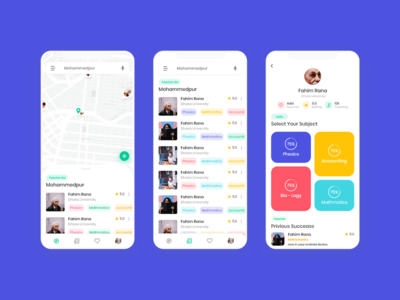 Online teaching app concept
