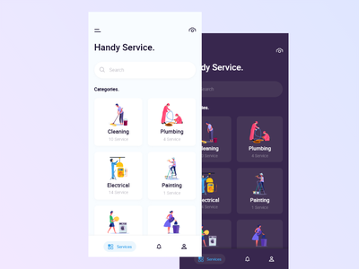 On Demand Service App app ui design ux