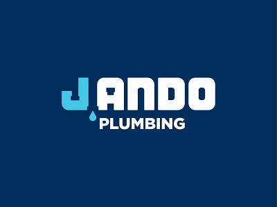 J Ando Plumbing Logomark pipes plumber graphic design design badge logotype typography logo mark logo design identity branding logo
