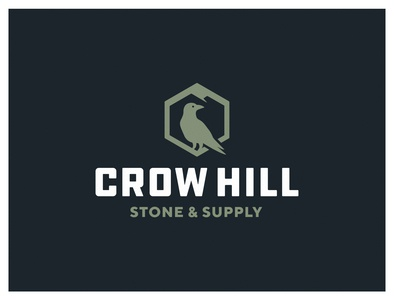 Crow Hill Stone & Supply Business Card mountain hill crow logotype typography landscaping design graphic design logo mark logo design identity branding logo