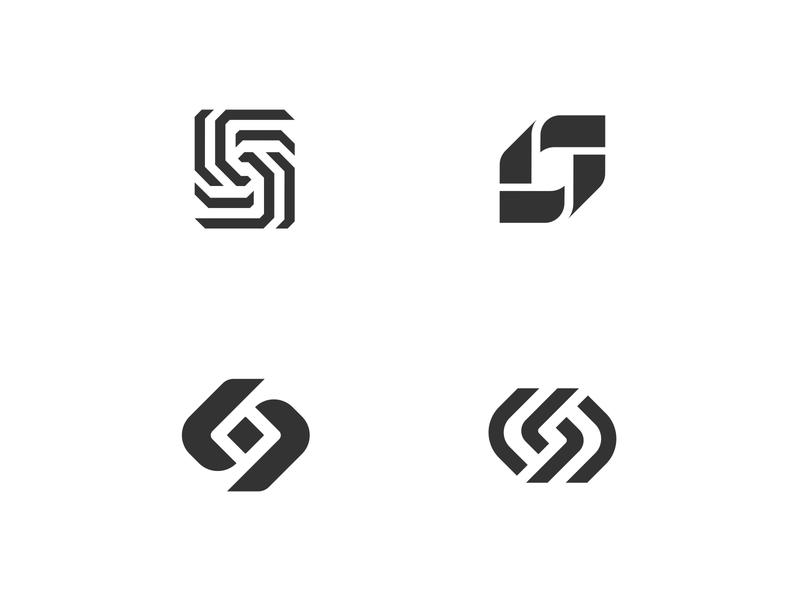 S Logo Mark Concepts l s concepts logo concepts graphic design gradient manufacturing metal metal stamping design logo mark logo design identity branding logo