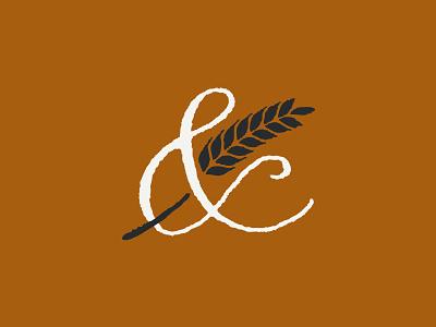 Ampersand Barley wine script market malt logo mark logo lettering hops bodega beer barley ampersand