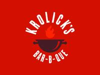 Krolicks logo grillcrest inverse