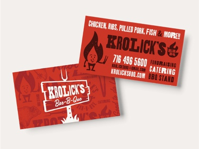 Krolick's Bar-B-Que Brand Identity Assets responsive branding restaurant branding take out tshirt design stickers bar-b-q illustration woodtype pattern design business cards branding typography bbq identity
