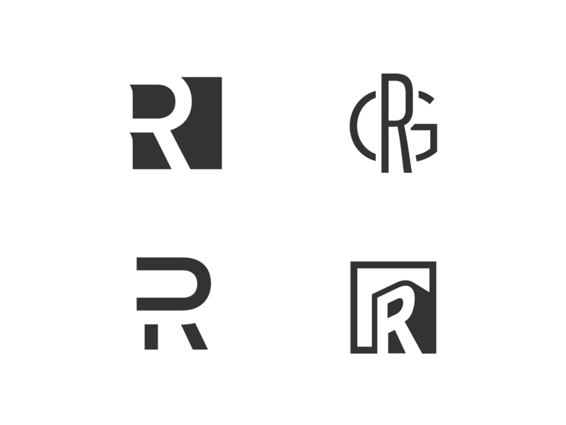 Today is brought to you by the letter R! monogram letter r logo concept logo mark drop cap logo design identity branding logo concepts