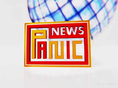 Day 8/30 - PANIC NEWS news agency clean mock mock up blender 3d news logo minimal branding brand design graphic design