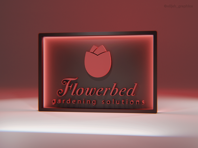 Day 9/30 - FLOWERBED mock up identity blender 3d minimal branding brand art logo graphic design design