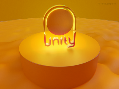 Day 12/30 - Unity multipurpose logo logotype identity clean graphic design mock up blender 3d minimal branding brand design logo