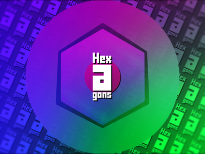 Hex-A-Gons gradient hexagon vector minimal photoshop identity mock up ui illustrator icon graphic design flat design clean branding brand art app logo illustration