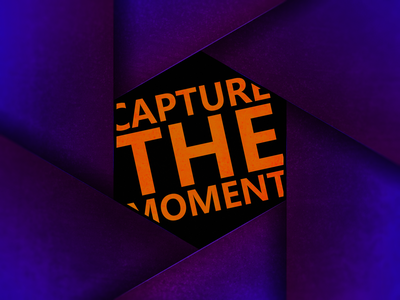 Capture the moment photography photographer shutter camera hexagon photoshop mock up identity vector minimal illustrator icon graphic design clean design branding brand art logo illustration