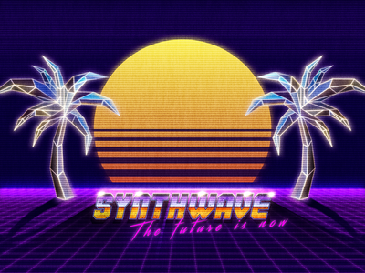 Synthwave absolutelyrad totallyrad rad 80s style 80s retrowave synthwave photoshop graphic design design art illustration