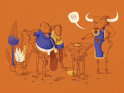 Beavers lunch