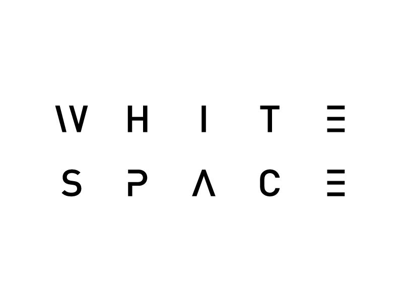 White Space logo branding identity minimal white