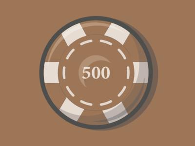500 Poker Chip