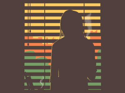 Silhouette on a window