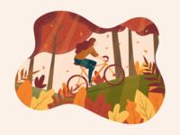 Biking thru autumn