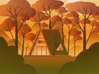 Autumn House Illustration