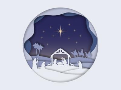 Christmas Nativity Papercut