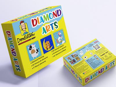 diamond art sticker design sticker design retro badge label mockup product design label and box design badge design label design