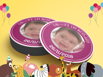 Baby Birthday product design invitation cards sticker design retro badge label design label mockup label and box design badge design