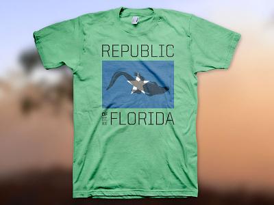 Republic of Florida t-shirt threadless tshirt t-shirt green blue white 1810 star alligator gator florida republic