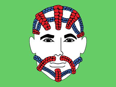 Super Hair: The Spider-Man blue red style marvel spiderman spider-man hair illustration superhero