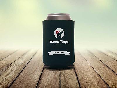 Brain Dogs koozie design devo koozie identity logomark brand logo dog trivia
